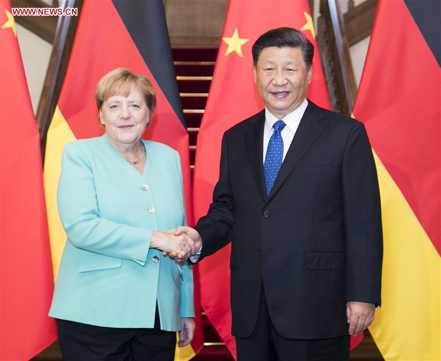 CHINA-BEIJING-XI JINPING-GERMANY-MERKEL-MEETING(CN)