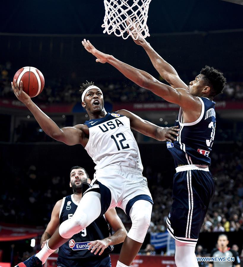 (SP)中国 - 深圳 - 篮球 - 西班牙世界杯组K-USA VS希腊(CN)