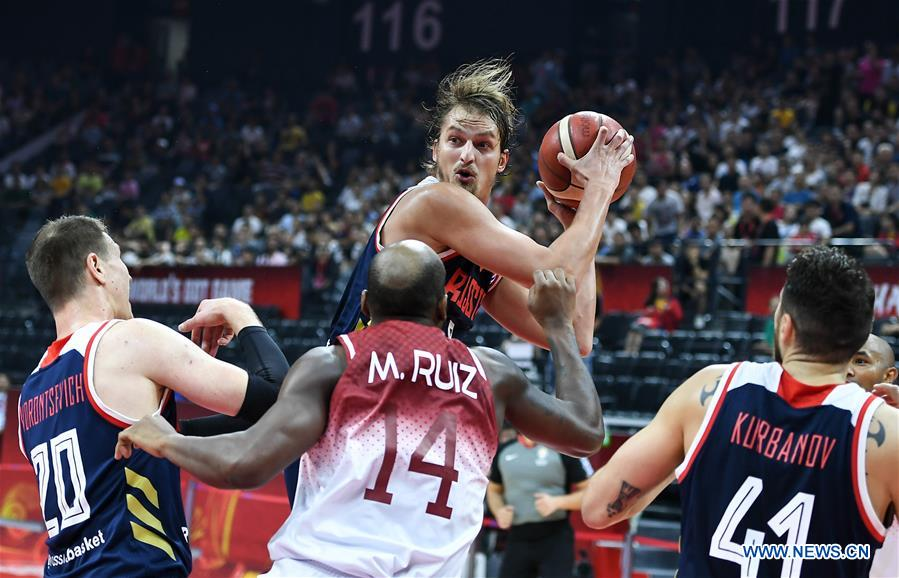 (SP)CHINA-FOSHAN-BASKETBALL-FIBA WORLD CUP-GROUP I-VEN VS RUS(CN)
