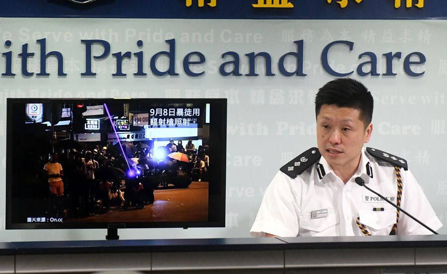Hong Kong police arrest 157 people over violence since Friday - Xinhua | English.news.cn