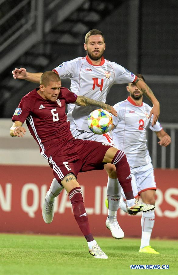 (SP)LATVIA-RIGA-FOOTBALL-UEFA EURO 2020-QUALIFIER-LATVIA VS NORTH MACEDONIA