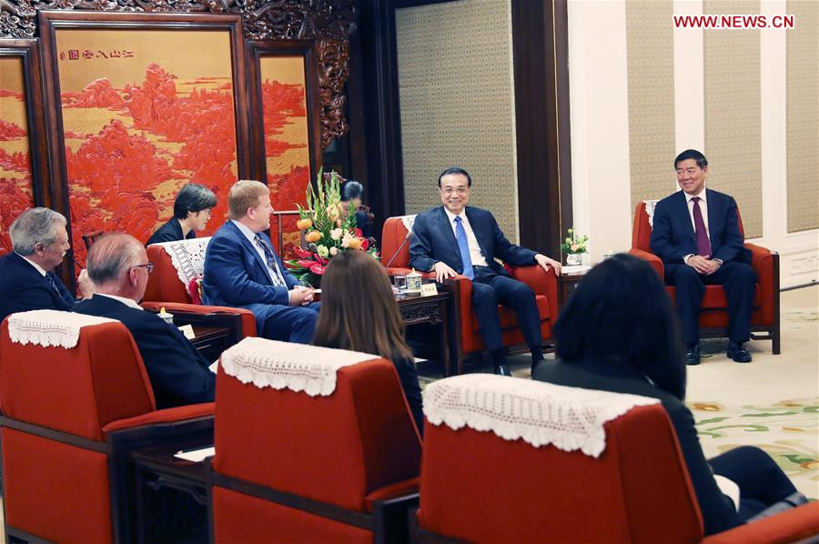 CHINA-BEIJING-LI KEQIANG-U.S. ENTREPRENEURS ON TRADE-MEETING (CN)
