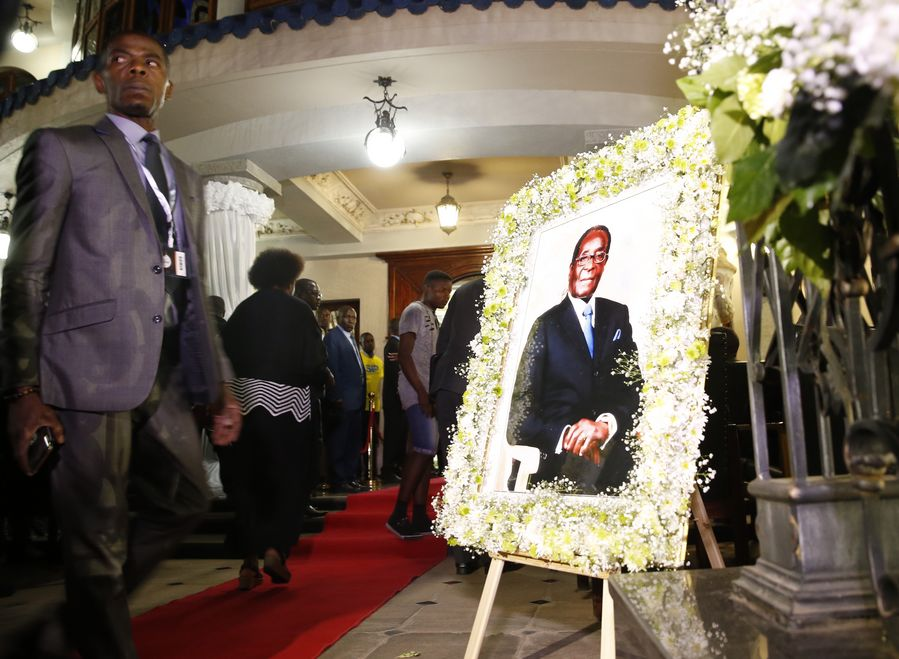 Zimbabweans Bid Farewell To Late Mugabe At First Public Funeral Service In Harare Xinhua English News Cn