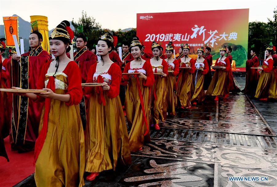 Cultural Event Praying for Harvest of Tea Held in Wuyishan, China's Fujian