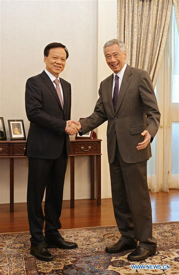 新加坡 - 中国 -  LEE HSIEN LOONG-CHEN MIN'ER-MEETING