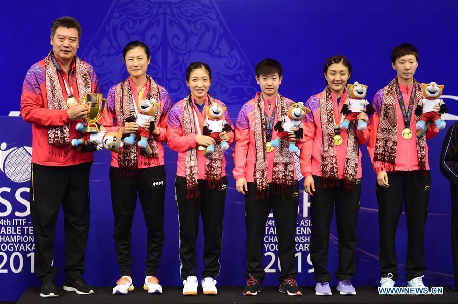 中国队在2019年亚洲乒乓球锦标赛