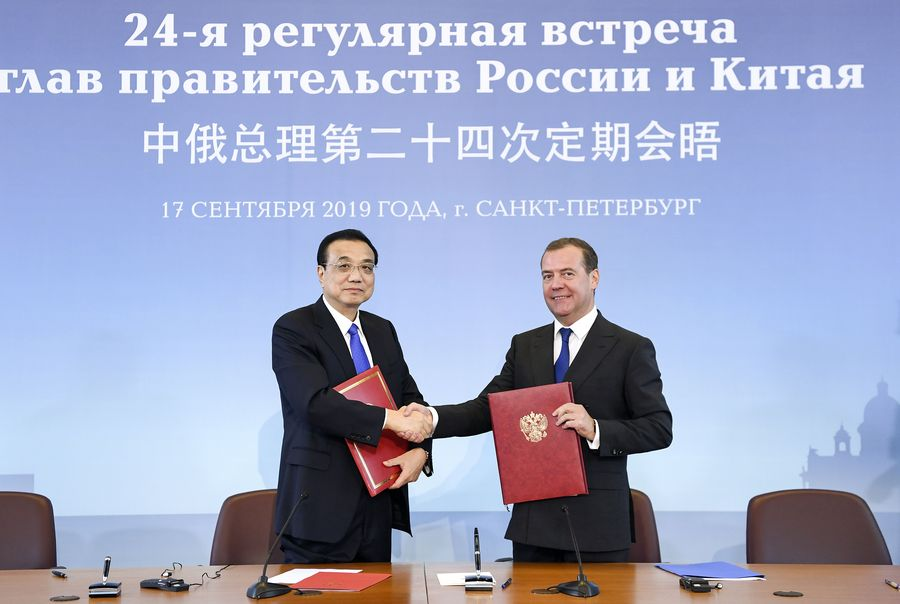 Chinese premier urges China, Russia to expand opening up for common development - Xinhua | English.news.cn