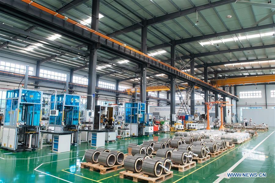 (SCI-TECH)CHINA-HUNAN-ZHUZHOU-CRRC-MAGNETIC-LEVITATION TRAIN-KEY COMPONENTS-UNVEILING (CN)