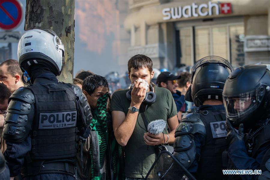 "FRANCE-PARIS-PROTEST-POLICE-""YELLOW VEST"""