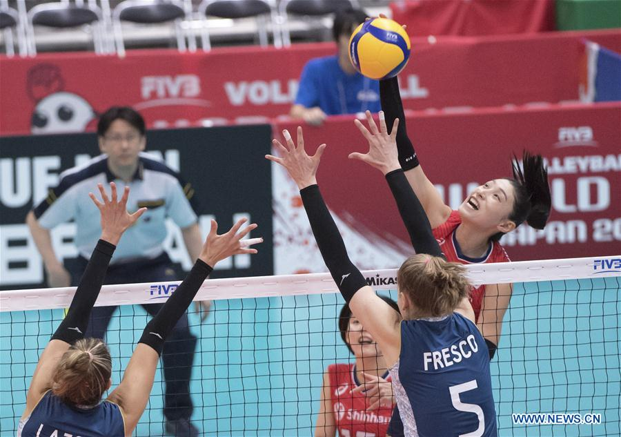 (SP)日本-富山-排球-女子世界甲级联赛-阿格