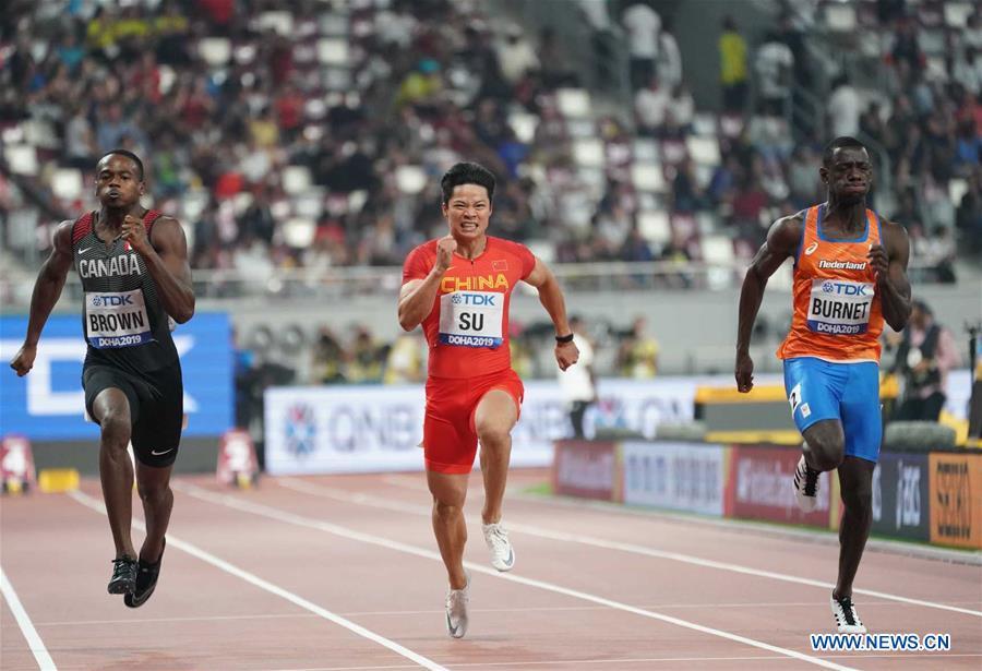 (SP)卡塔尔-多哈-国际田联世界田径锦标赛男子100M