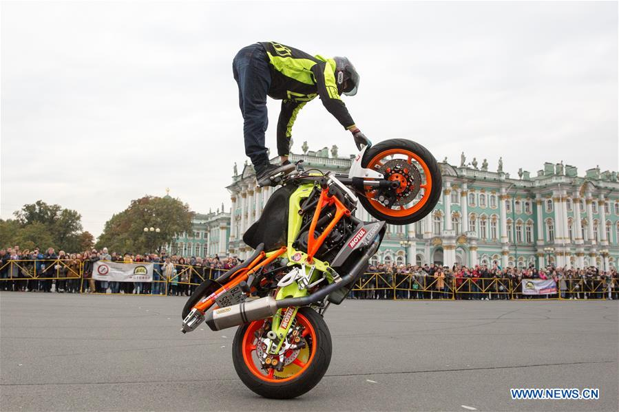 俄罗斯-ST。 圣彼得堡-摩托车赛季结束仪式