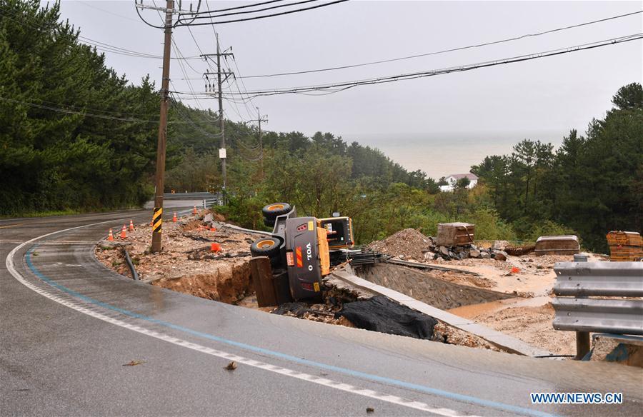 韩国-江原道-台风-米塔格