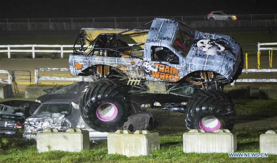 Highlights Of Monster Truck Show Of The 2019 Markham Fair Xinhua English News Cn