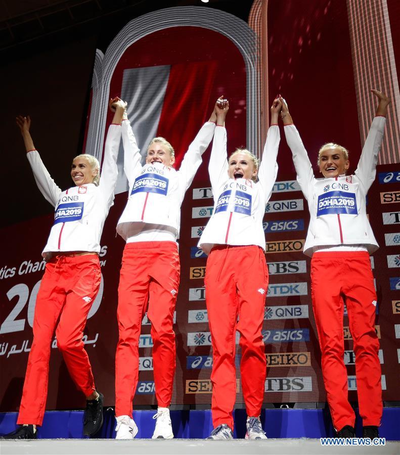 (SP)卡塔尔-多哈-竞技-国际田联世界锦标赛-颁奖典礼