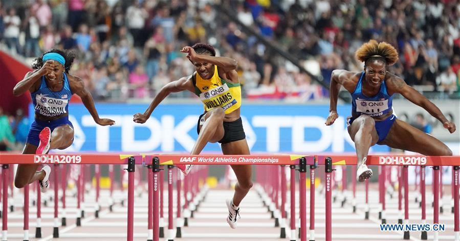 (SP)卡塔尔-多哈-竞技-国际田联世界锦标赛-女子100万跨栏