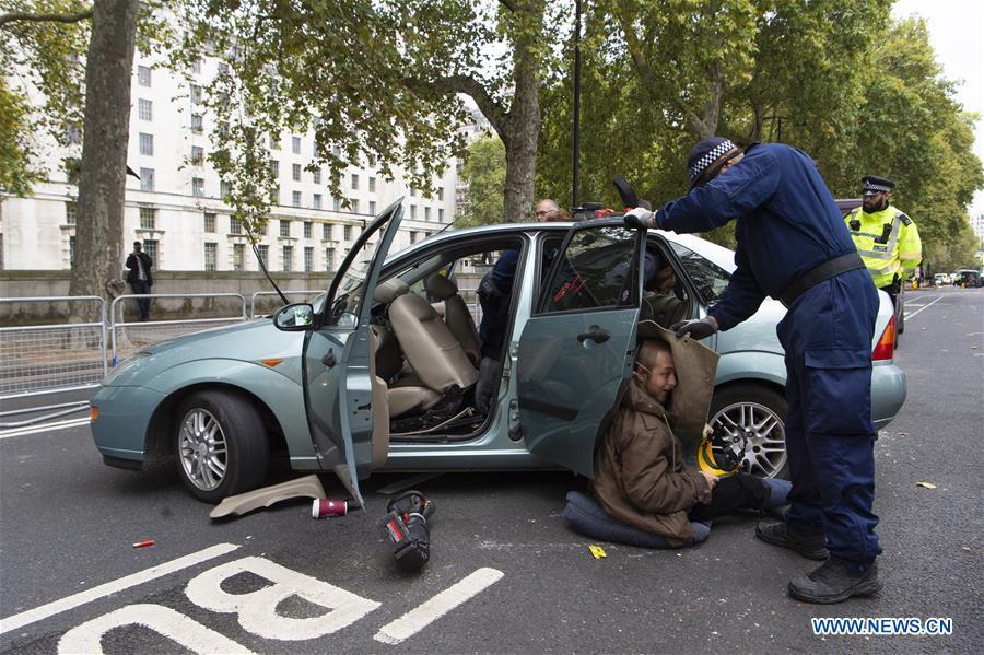 英国伦敦环境抗议