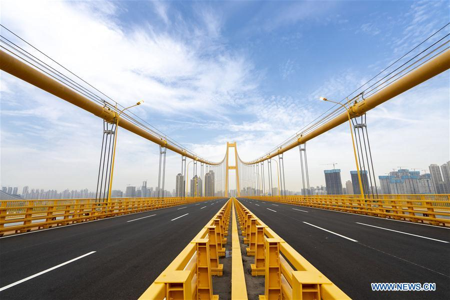 中国-武汉-武汉双层悬索桥通车(CN)