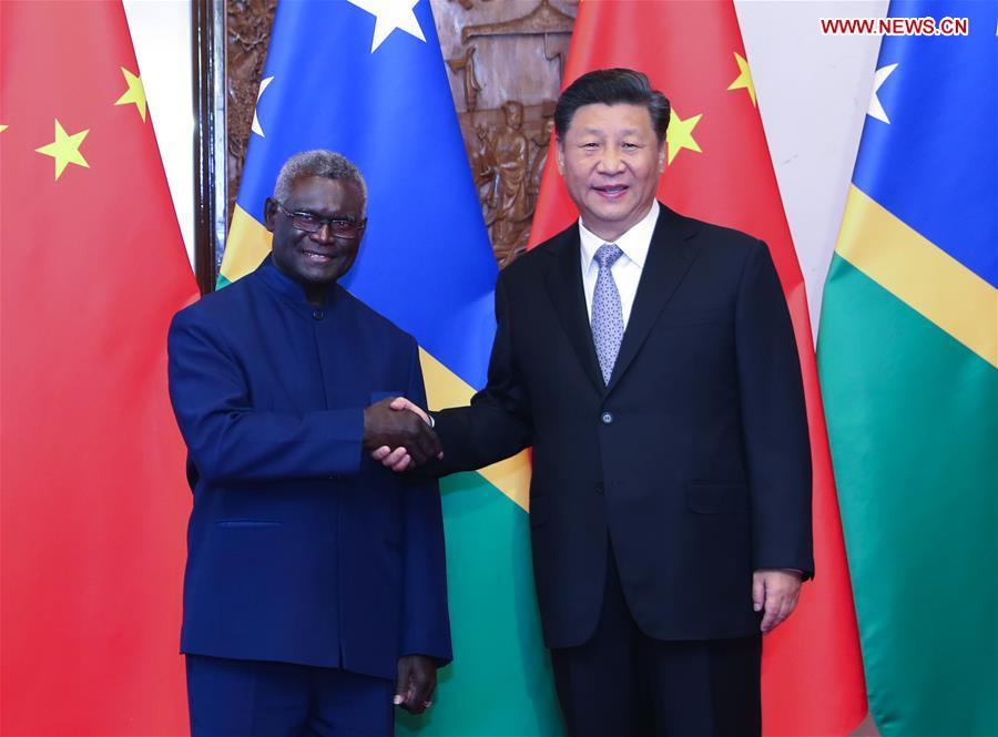 CHINA-BEIJING-XI JINPING-SOLOMON ISLANDS-PM-MEETING (CN)