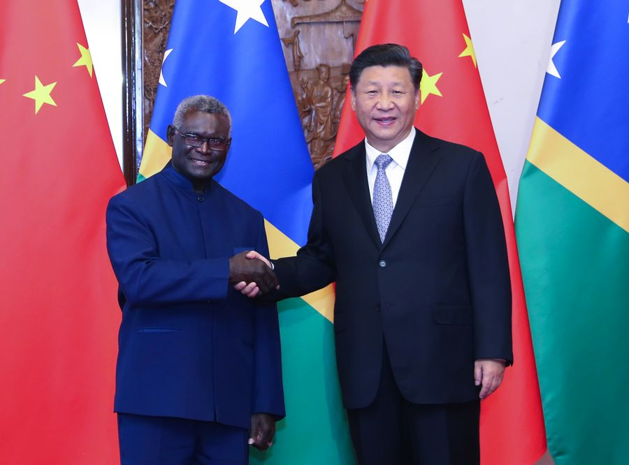 Chinese president meets Solomon Islands PM, pledging closer cooperation - Xinhua | English.news.cn