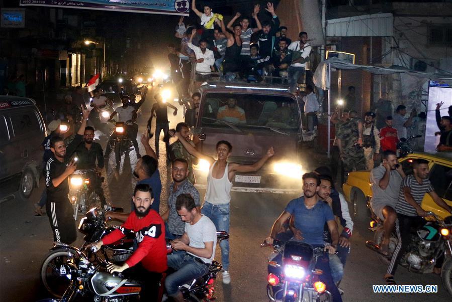 SYRIA-HASAKAH-ARMY-ENTRY-CELEBRATIONS