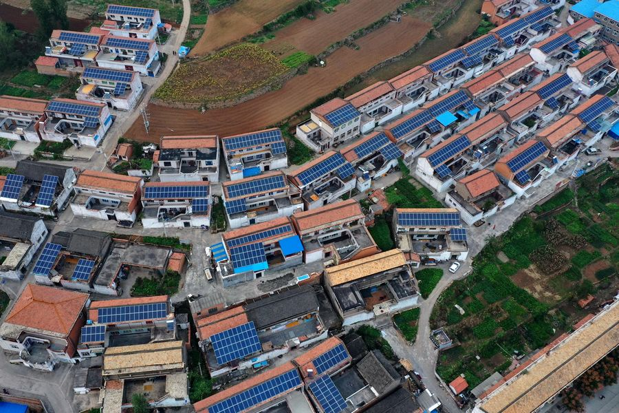 New Way of Poverty Alleviation: PV Power Panels on the Roof - Xinhua | English.news.cn