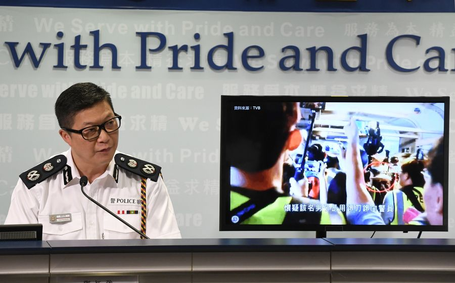 Brutal attacks on police draw unanimous condemnation in Hong Kong - Xinhua | English.news.cn