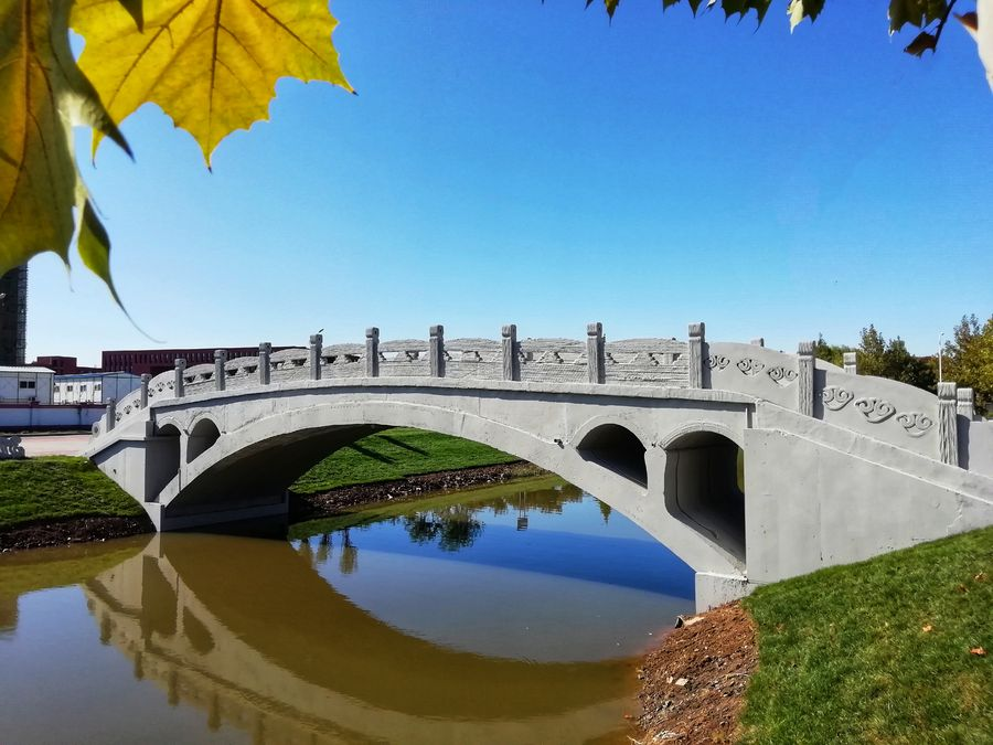 3D-printed concrete bridge unveiled in north China - Xinhua | English.news.cn
