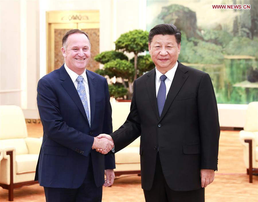 CHINA-BEIJING-XI JINPING-NEW ZEALAND-FORMER PM-MEETING (CN)