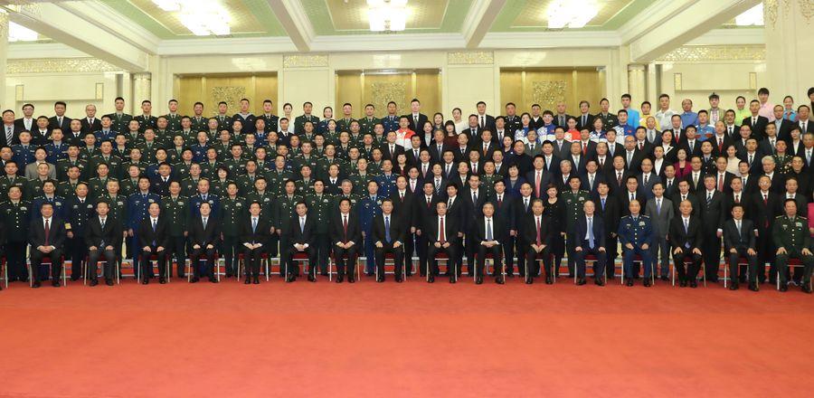 Xi meets representatives of PRC anniversary celebrations personnel - Xinhua | English.news.cn