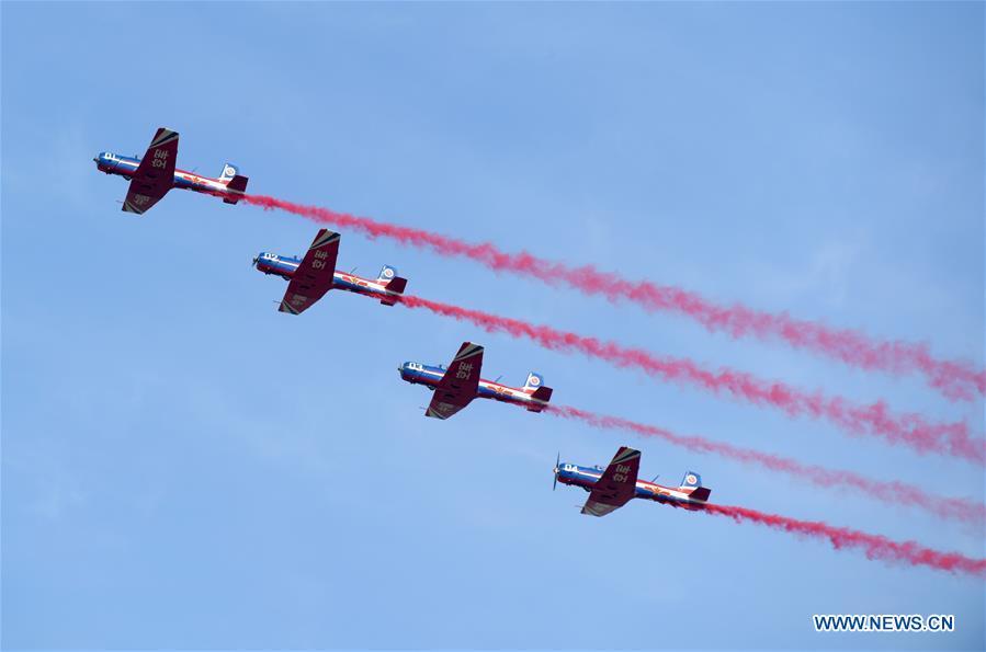 CHINA-JILIN-CHANGCHUN-PLA AIR FORCE-70TH ANNIVERSARY-CELEBRATIONS (CN)