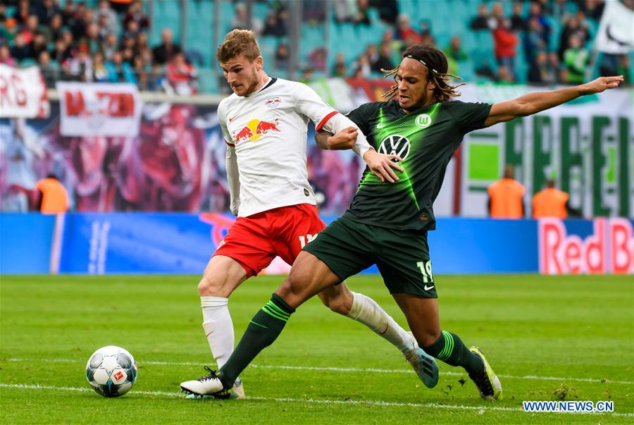 (SP)德国-莱比锡-足球-邦德斯利加-莱比锡VS沃尔夫斯堡