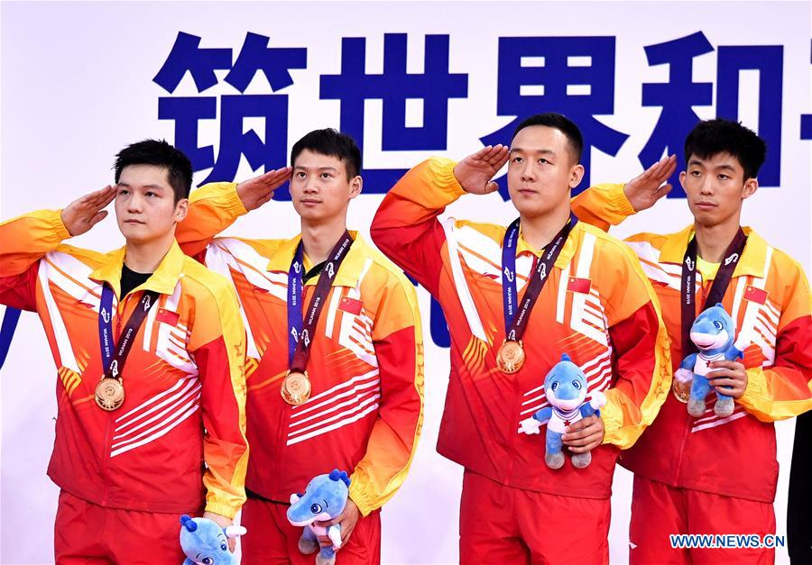 (SP)CHINA-WUHAN-7TH MILITARY WORLD GAMES-TABLE TENNIS