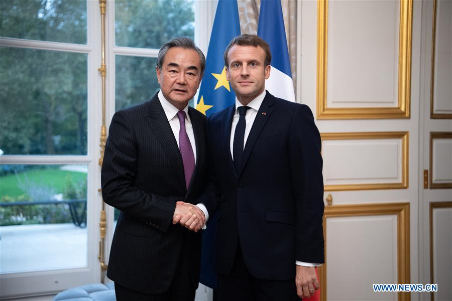 French President Meets Chinese Fm On Ties Xinhua English News Cn