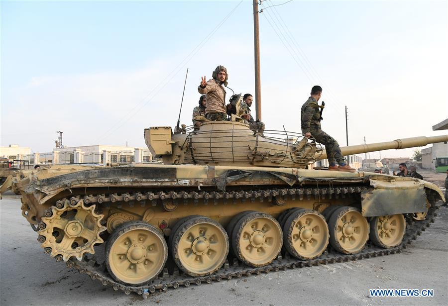 SYRIA-ALEPPO-MANBIJ-ARMY-DEPLOYMENT