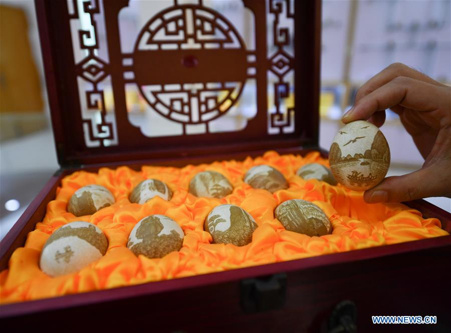 CHINA-JIANGXI-INTANGIBLE CULTURAL HERITAGE-EGG CARVING (CN)