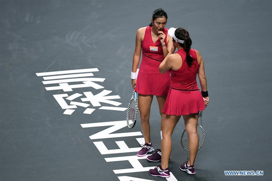 (SP)中国-深圳-网球-WTA巡回赛双打(中国)
