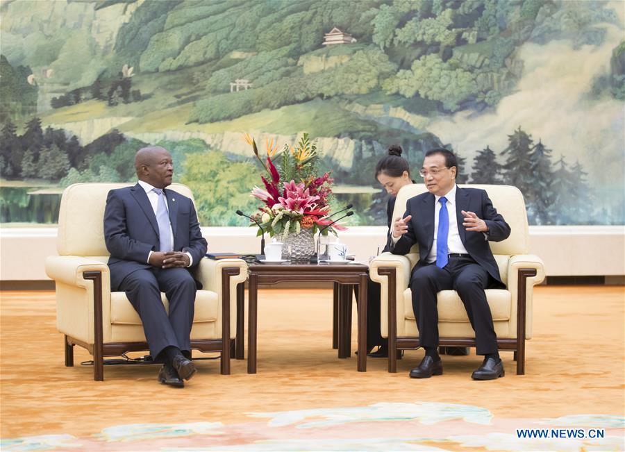 中国北京李克强南非会议