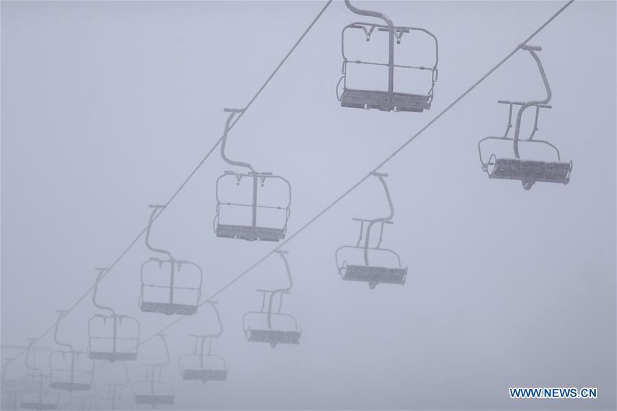 CROATIA-ZAGREB-FIRST SNOW
