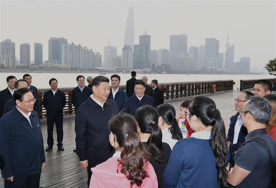 CHINA-SHANGHAI-XI JINPING-INSPECTION (CN)