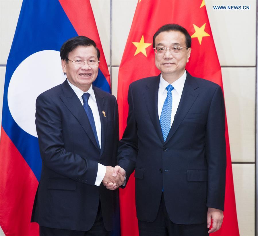 泰国-曼谷-李克强-老挝-下午会议