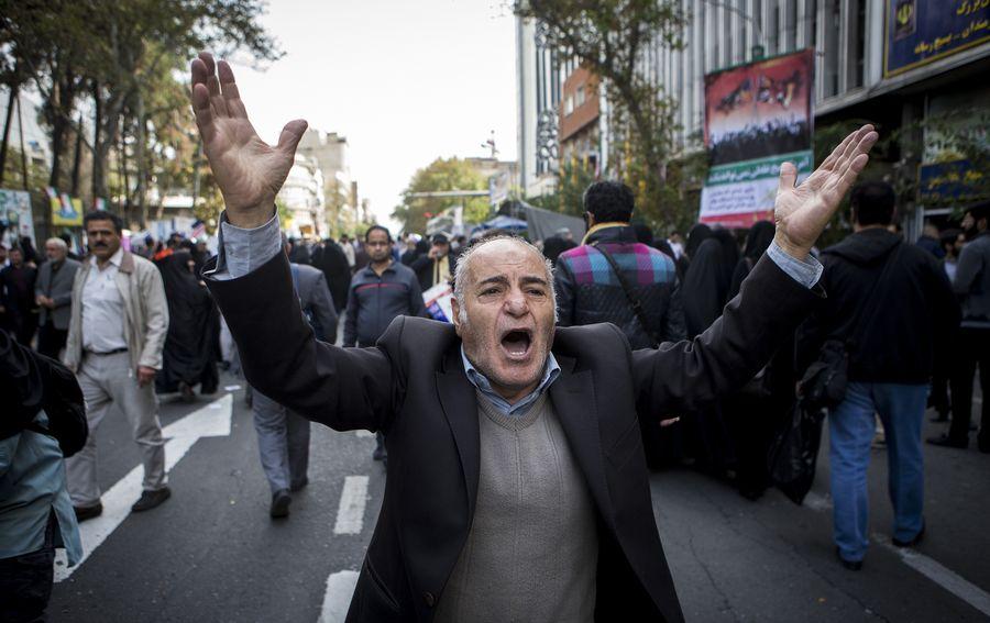 Iranians mark anniversary of U.S. embassy seizure amid escalating tensions - Xinhua | English.news.cn