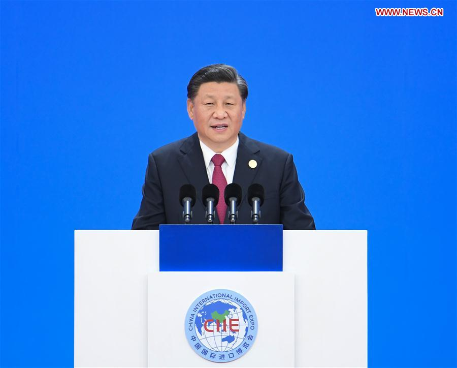 (CIIE)CHINA-SHANGHAI-XI JINPING-CIIE-OPENING CEREMONY (CN)