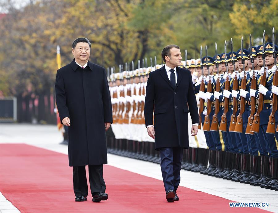 Xi Focus Xi Holds Talks With Macron Pledging For Enhanced China France Ties Xinhua English News Cn