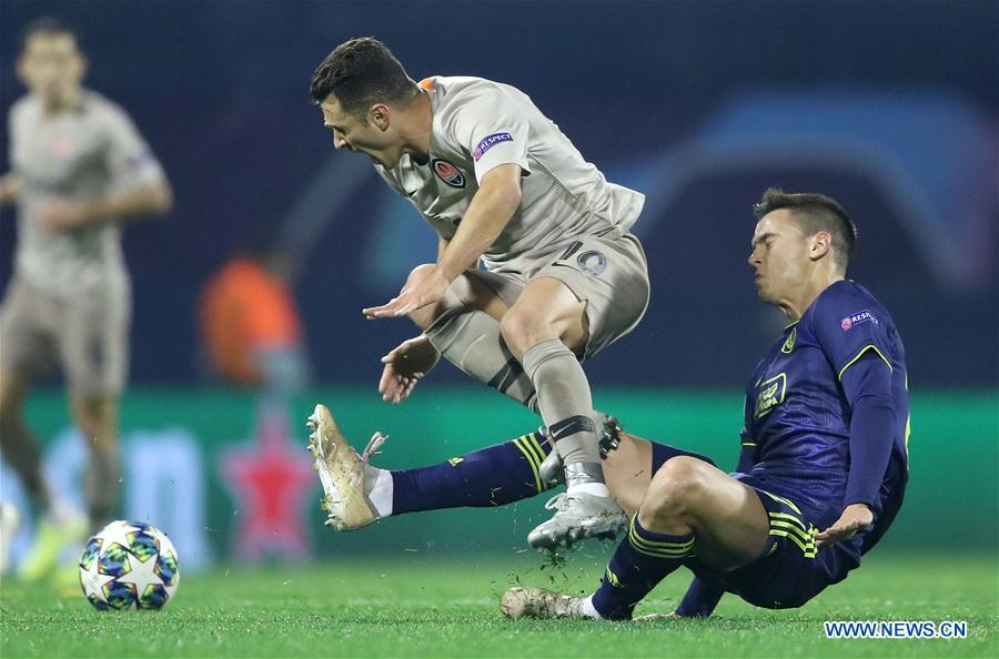 Uefa Champions League Group C Dinamo Zagreb Vs Shakhtar Donetsk Xinhua English News Cn
