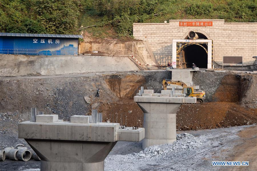 LAOS-CHINA-RAILWAY TUNNEL-CONSTRUCTION-BREAKTHROUGHS