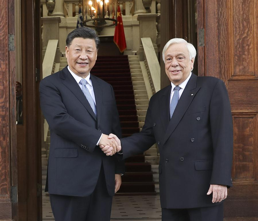 GREECE-ATHENS-XI JINPING-GREEK PRESIDENT-TALKS