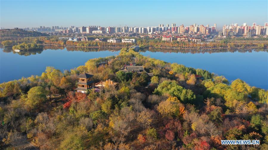 CHINA-HEBEI-TANGSHAN-NANHU PARK-EARLY WINTER SCENERY (CN)