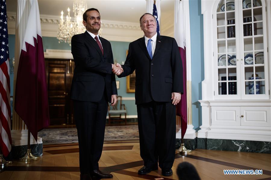 美國華盛頓DC-POMPEO-卡塔爾-FM會議