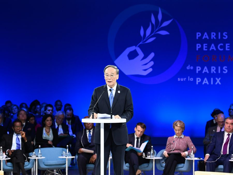 China a champion of world peace, defender of int'l order: Chinese VP - Xinhua | English.news.cn